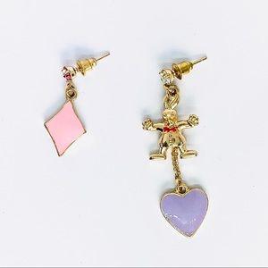New! Alice in the Wonderland Gold Rabbit Earrings